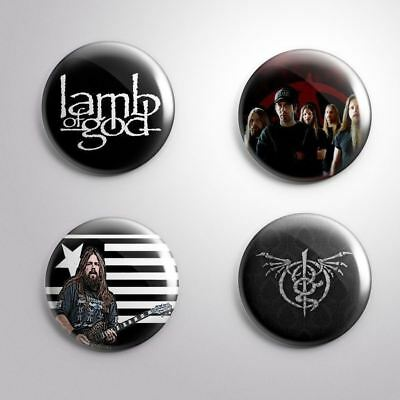 4 LAMB OF GOD - Pinbacks Badge Button Pin 25mm 1''