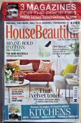 House Beautiful Magazine March 2018 ~ With Free Home Renovation Guide ~ New