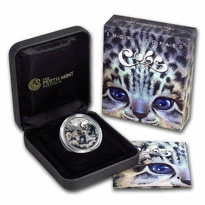 2016 Tuvalu Silver Proof 1oz Coin Cubs Snow Leopard