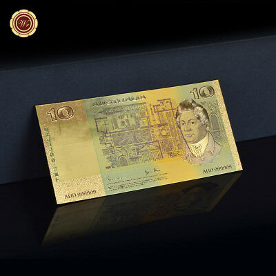 WR 1966s Australia $10 Dollar Notes Gold Foil Old Banknote Money Collection Rare