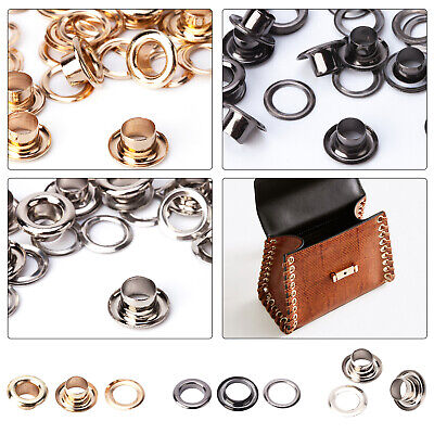 100p Eyelets with Chrome Coated Brass Based Rust Proof Leather Bags Belts Crafts