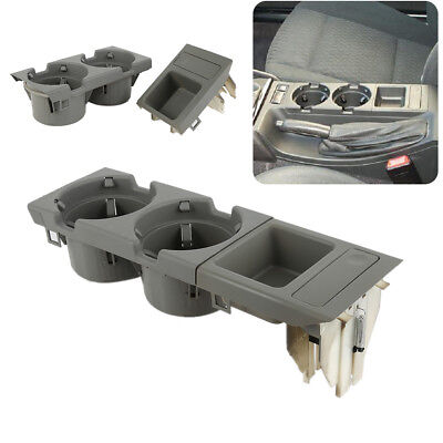 Drink Coin Cup Holder & Oddments Tray Center Console Grey For BMW E46 3 Series K