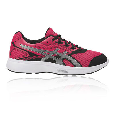 Asics Stormer Womens Pink Cushioned Running Sports Shoes Trainers Pumps