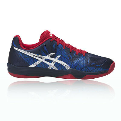 Asics Gel-Fastball 3 Mens Red Blue Squash Indoor Court Shoes Trainers
