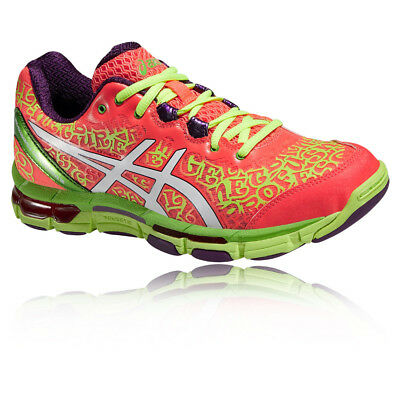 ASICS GEL-NETBURNER Professional 12 Womens Red Green Netball Shoes Trainers