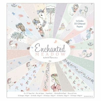 """Docrafts Papermania Craft Premium Paperstock 12 x 12"""" - Enchanted Meadow (50pk)"""