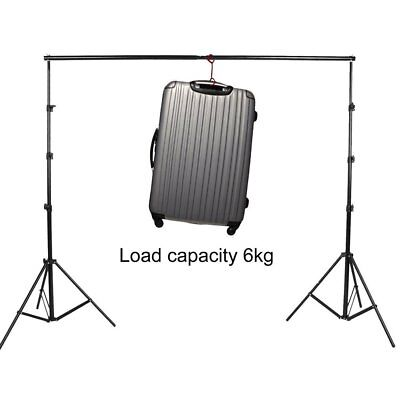 3m/10Ft Adjustable Photography Studio Backdrop Cloth Stand Crossbar Kit RI