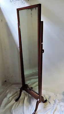 Beautiful Edwardian Oak Cheval Mirror Arts Crafts Nouveau Deco Can Deliver