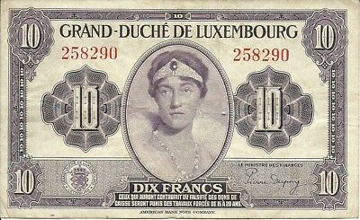Luxembourg 10 Franc 1944  P-44