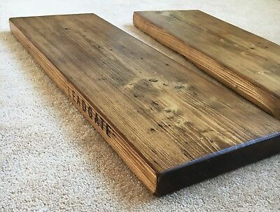 RECLAIMED Scaffold Boards - 17 Sizes - Industrial/Rustic Shelf. Wood Display