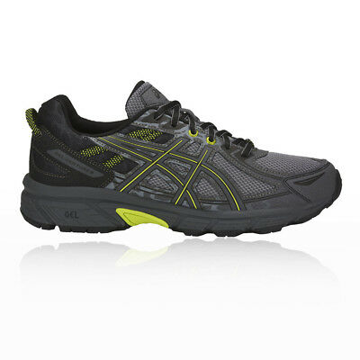 Asics Mens Gel-Venture 6 Trail Running Shoes Trainers Sneakers Black Grey Sports