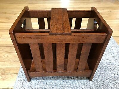 Stickley Mission Oak Magazine Rack W/shelf
