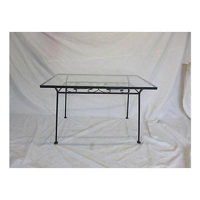 Midcentury  Wrought Iron Salterini Black Outdoor Dining Table