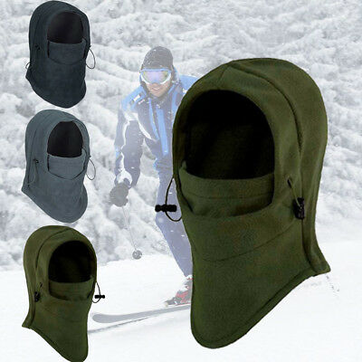 Unisex Thermal Fleece Balaclava Hood Cap Winter Mask Ski Bike Hat Headscarf Warm