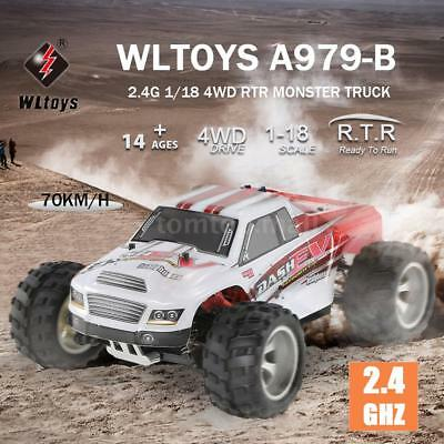 WLtoys A979-B 2.4G 1/18 1:18 4WD 70KM/h High Speed Electric Truck  RC Car RTR
