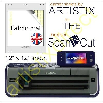 Scan N Cut Artistix Fabric Cutting Mat Carrier Sheet Scanncut 12 x 12