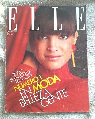 REVISTA ELLE Nº 1 (1986)! STEPHANIE SEYMOUR! Impossible to Find! SPAIN, MAGAZINE