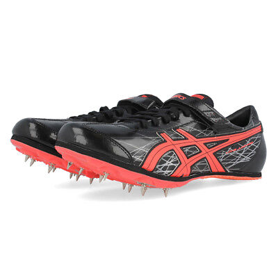 best service 389be 756bc Asics Mens Long Jump Pro Spikes Black Sports Breathable Lightweight Trainers