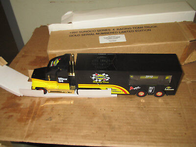 1997 Sunoco Racing Team toy truck gold serial numbered limited edition