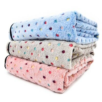 S/M/L Pet Dog Cat Blanket Fleece Mat Bed Cute Cover Kennel Soft Cushion Pad Cool