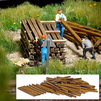 Real Wooden planks and beams - OO/HO accessories - Busch 1129
