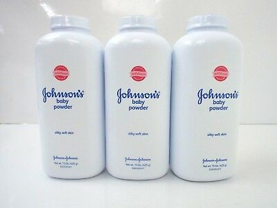 Johnson's Baby Powder Silky Soft Skin 15 OZ - Lot of 3 per Pack SPECIAL
