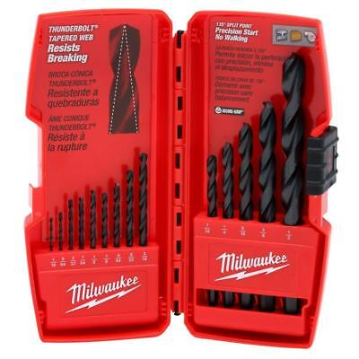 NEW 48-89-2800 MILWAUKEE Drill Bit Set 14 Piece Black Oxide Wood Metal