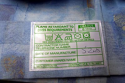 """One pair of large flame retardant very heavy curtains 1"""" heading 204""""w by 79""""d"""
