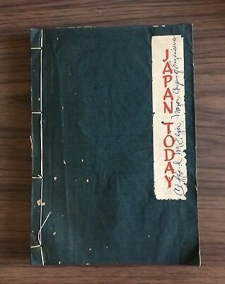 1948 Japan Today A Pictorial Guide - Shodo Taki Owned by Major Clifford McEdgar