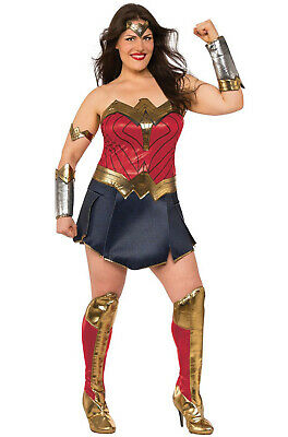Brand New Justice League Movie Deluxe Woman Woman Plus Size Costume