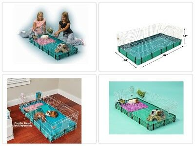 Small Animal Cage Hamster Pet House Kennel Travel Home Large Rat Rabbit Teal