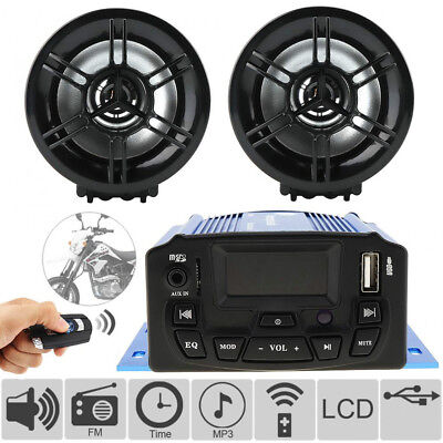 DC12V 25W Waterproof Motorcycle Anti-theft Audio Sound MP3 Player Speaker System