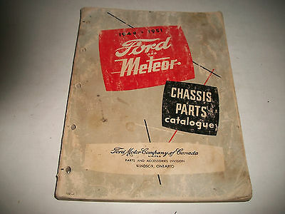 1949 1950 1951 Ford-Meteor Passenger Car Chassis Parts  Catalog Illustrated