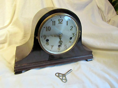 An Antique Westminster Chimes Mantel Clock