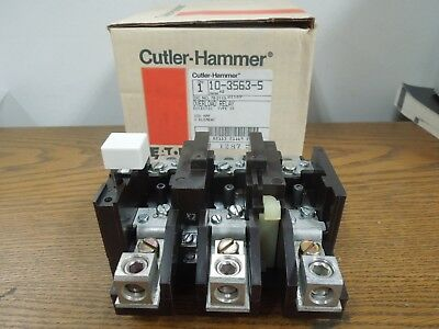 Cutler Hammer 10-3563-5 Overload Relay Type ST Eutectic Size 3 Citation Surplus