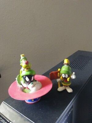 Looney Tunes Marvin The Martian And K-9 On A Flying Saucer PVC Figure; 1995