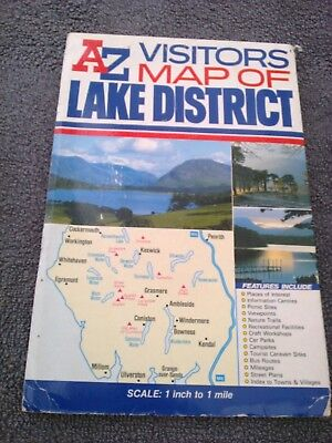 Lake District Visitors Map by Geographers' A-Z Map Co Ltd (Sheet map, folded,...