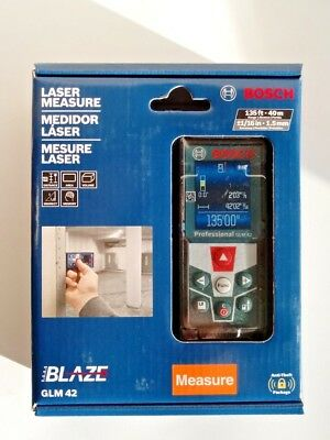 Bosch 135 Ft. Laser Measure With Full-Color Display, Glm 42 Nib