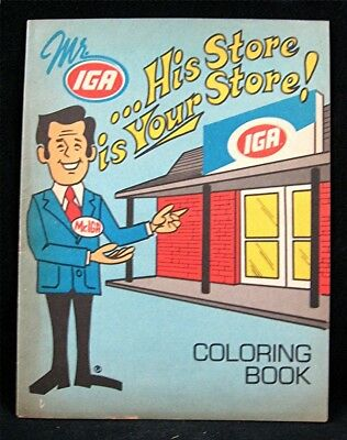 IGA Grocery Store Giveaway 20 page Unused Coloring Book Old Store Stock