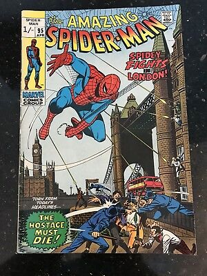 """Marvel The Amazing Spider-man, pence copy #95 Comic - """"Spidey Fights in London!"""""""