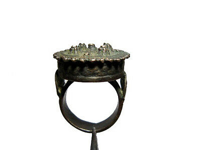 OUTSTANDING ANTIQUE 1800's. MASSIVE AND HUGE BRONZE RING!!!