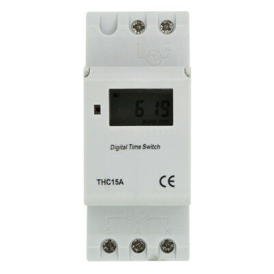 DIN Rail Digital LCD Power Programmable Timer Relay Switch AC 220-240V 16A V8#