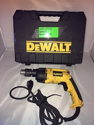 "DEWALT DW511R 1/2"" 7.8 AMP VSR VARIABLE SPEED CORDED HAMMERDRILL with case"