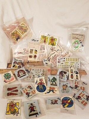 Huge Lot of Vintage Monte Impko and Aurora Decals 1960's 1970's New Old Stock