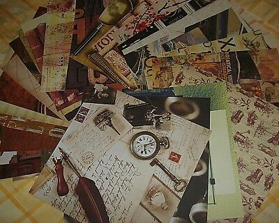 NEW Retro Vintage Lot of 30 ct scrapbooking paper 12x12 stylish artistic colors