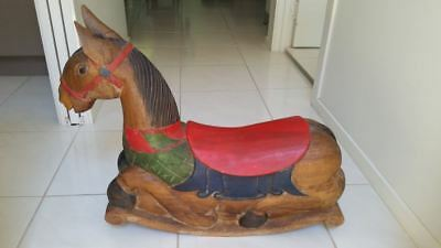 Rocking Horse Wooden hand carved
