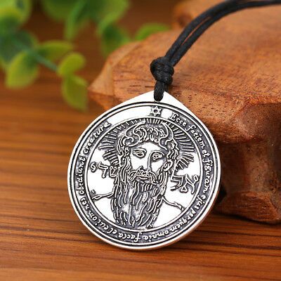 The First Pentacle of the SUN the Key of Solomon Pendant Wiccan Charm Necklaces