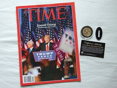 TIME Magazine November 21 2016 Donald Trump President-elect & 24K Clinton Coin