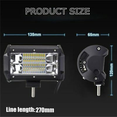 5'' Inch 72W LED Work Light Bar SPOT Driving Lamp Jeep Truck Boat Offroad CoolS