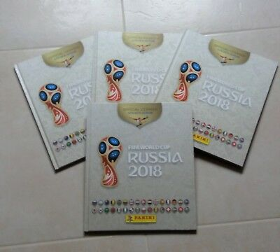 Album PANINI RUSSIA 2018 version hardcover / rigide blanc (France)